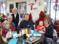 Guests with Santa